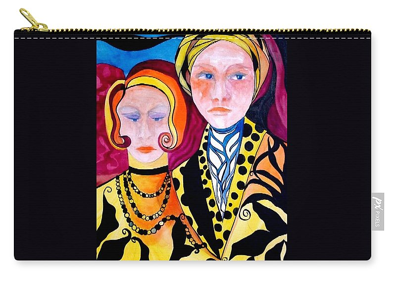 People Carry-all Pouch featuring the painting Alone And Together by Carolyn LeGrand