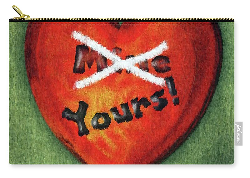 Green Carry-all Pouch featuring the painting I Gave You My Heart by Jeffrey Kolker