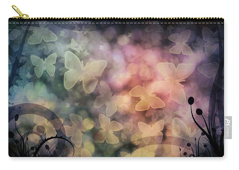 Butterfly Carry-all Pouch featuring the photograph I Have A Dream... A Fantasy by Marianna Mills