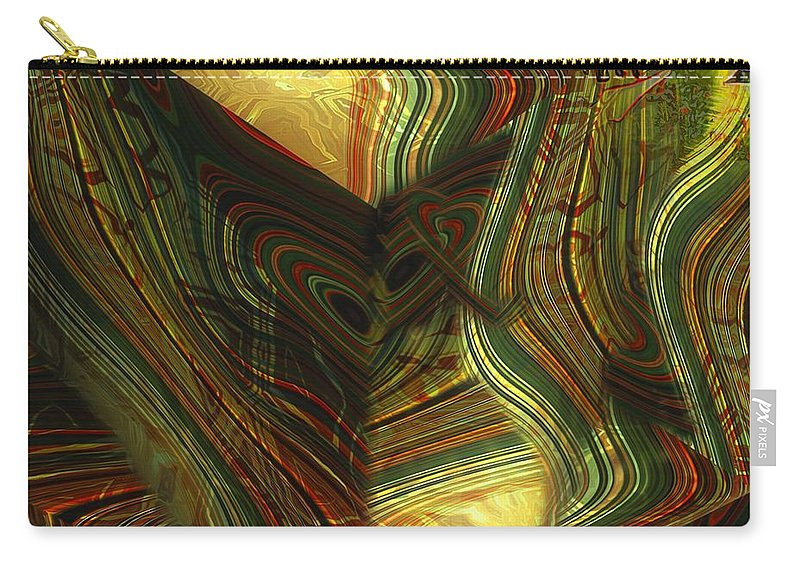 Abstract Carry-all Pouch featuring the painting I Have Set Aside A Block Of Time by RC DeWinter