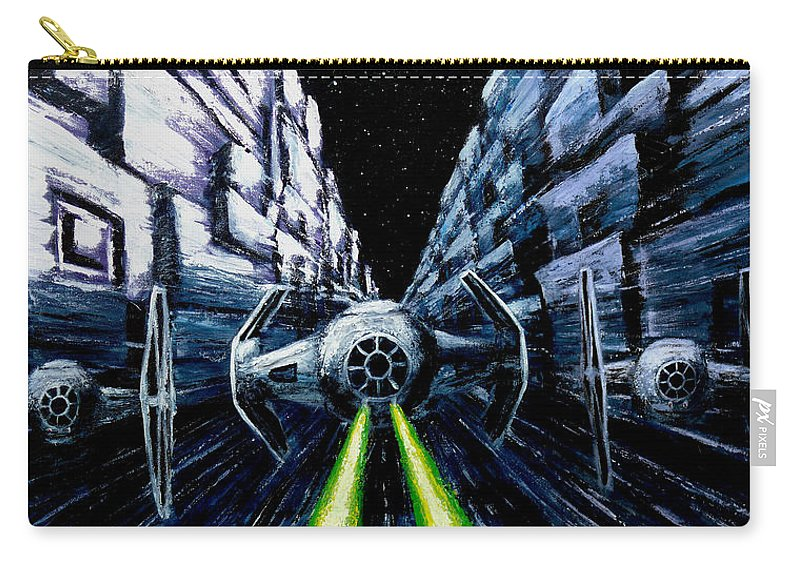 Star Wars Carry-all Pouch featuring the painting I Have You Now by Marlon Huynh