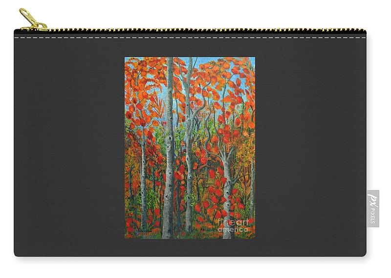 Fall Carry-all Pouch featuring the painting I Love Fall by Holly Carmichael