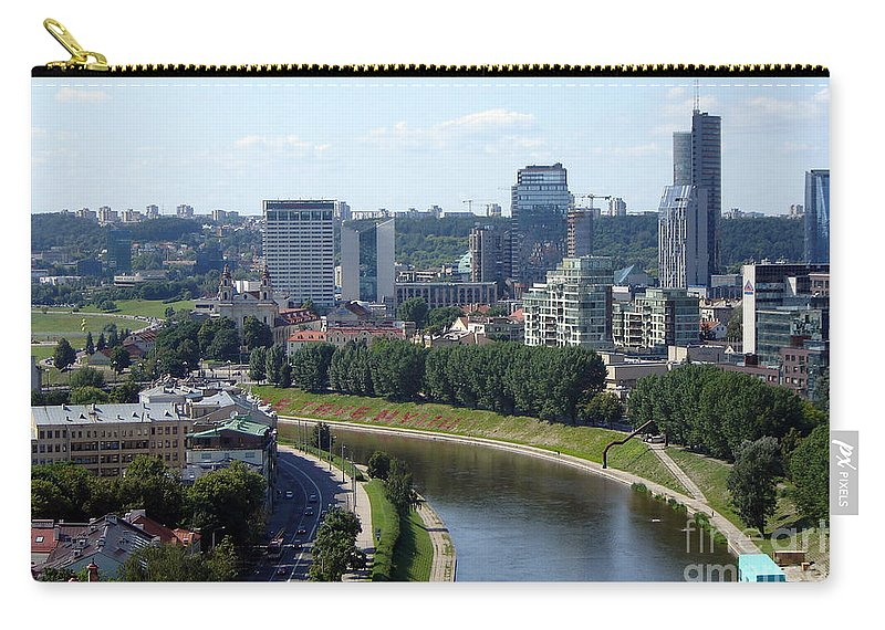 Vilnius Carry-all Pouch featuring the photograph I Love You. Vilnius. Lithuania by Ausra Huntington nee Paulauskaite
