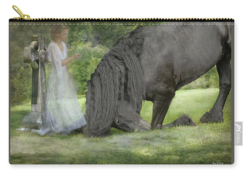 Horses Carry-all Pouch featuring the photograph I Miss You by Fran J Scott