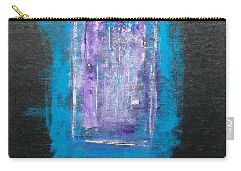 Abstract Carry-all Pouch featuring the painting I Must Go In The Fog Is Rising by Linda Wimberly