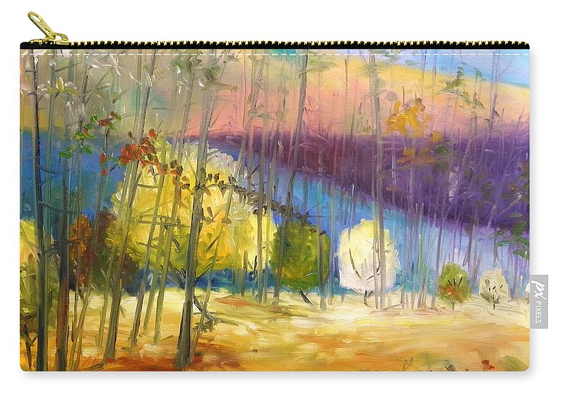 Oil Carry-all Pouch featuring the painting I See A Glow by John Williams