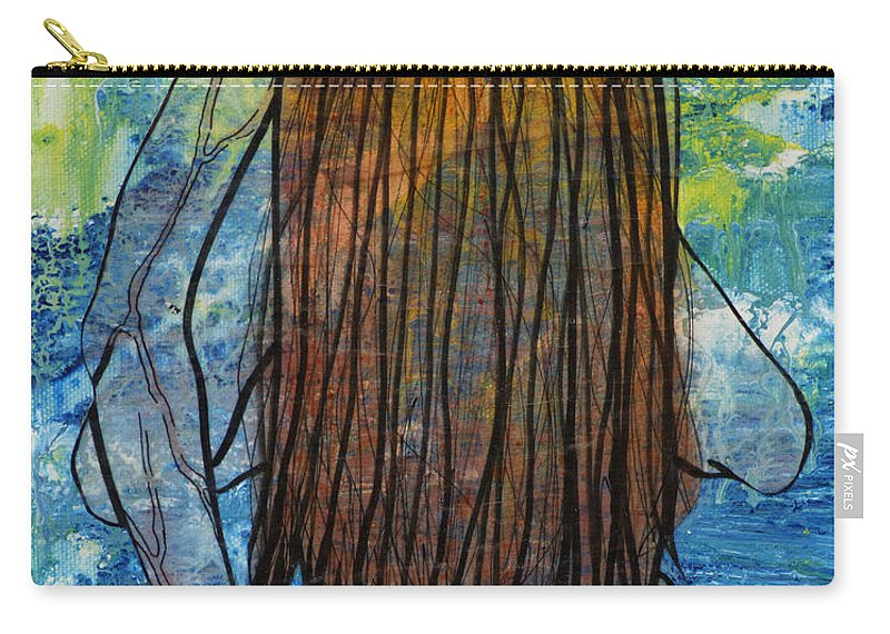 Blue Carry-all Pouch featuring the painting I... by Sheridan Furrer