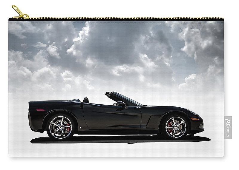 Corvette Carry-all Pouch featuring the digital art I Take Mine Black by Douglas Pittman