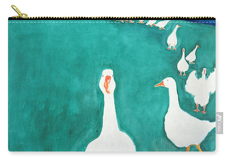 It Is Carry-all Pouch featuring the painting I Think Its Lunch Time, 2000 by Jacob Sutton