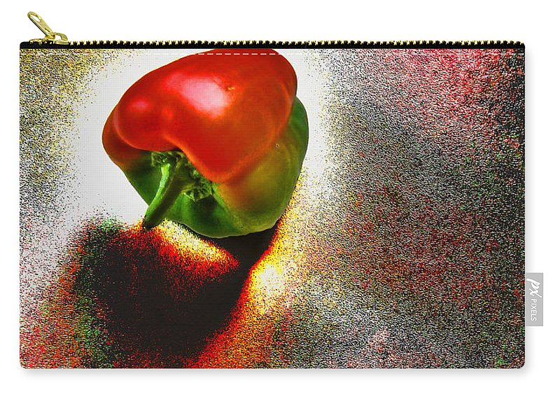 Texture Carry-all Pouch featuring the photograph I Vote For A Really Hot Sweet Pepper by Steve Taylor