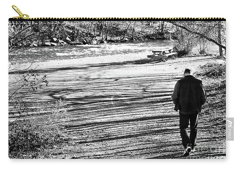 Person Carry-all Pouch featuring the photograph I Walk Alone by Lori Tambakis