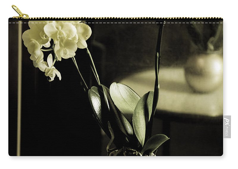 Flowers Carry-all Pouch featuring the photograph Delicate Reflection by Madeline Ellis