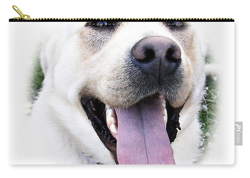 Labrador Carry-all Pouch featuring the photograph I Love You - I Woof You by Eamonn Hogan