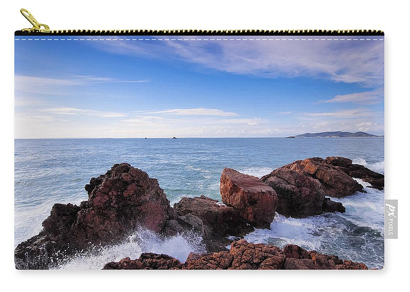 Spain Carry-all Pouch featuring the photograph Ibiza Coastline by Karol Kozlowski