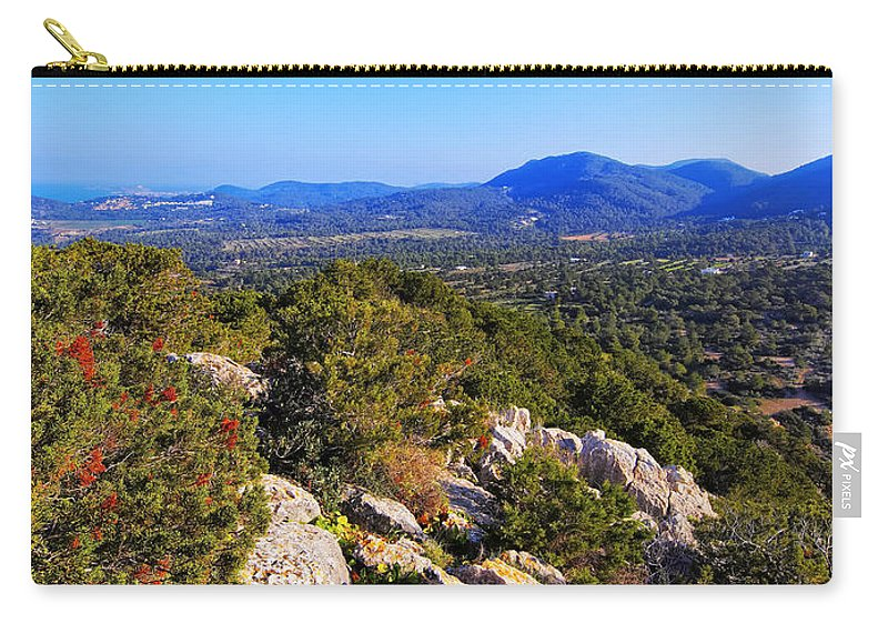 Summer Carry-all Pouch featuring the photograph Ibiza Mountains by Karol Kozlowski