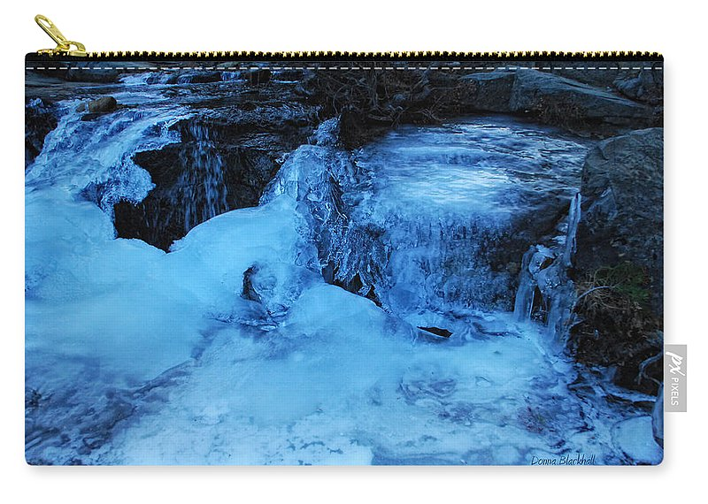 Abstract Carry-all Pouch featuring the photograph Ice Age Begins by Donna Blackhall