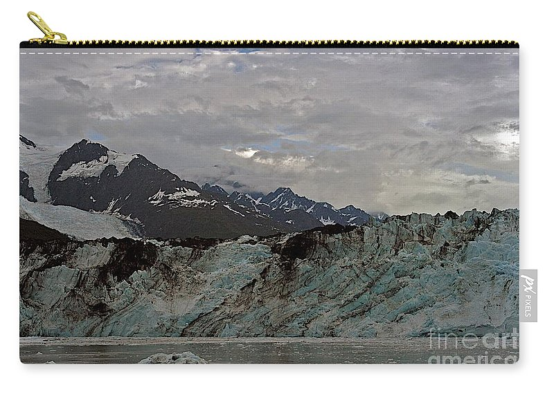 Alaska Carry-all Pouch featuring the photograph Ice And Dirt by Joseph Yarbrough