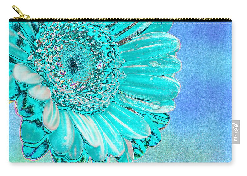 Blue Carry-all Pouch featuring the digital art Ice Blue by Carol Lynch