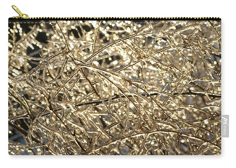 Burst Carry-all Pouch featuring the photograph Ice Burst by Shannon Workman