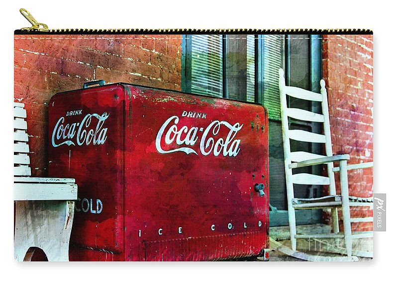 Coca Cola Carry-all Pouch featuring the photograph Ice Cold Coca Cola by Benanne Stiens