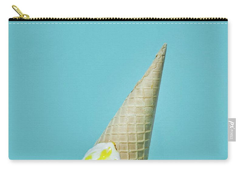 Melting Carry-all Pouch featuring the photograph Ice Cream by All Kind Of Things In Photo