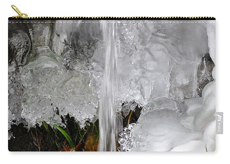 Ice Carry-all Pouch featuring the photograph Ice Fall by Christina McKinney