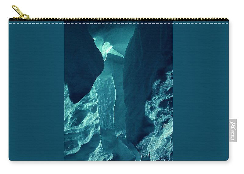 Colette Carry-all Pouch featuring the photograph Ice Snow Natural Formation Austria by Colette V Hera Guggenheim