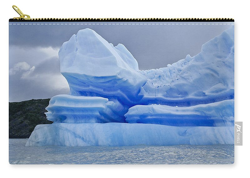 Patagonia Carry-all Pouch featuring the photograph Iceberg Sculpture by Michele Burgess
