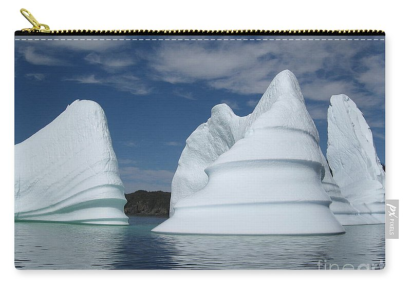 Iceberg Newfoundland Carry-all Pouch featuring the photograph Icebergs by Seon-Jeong Kim