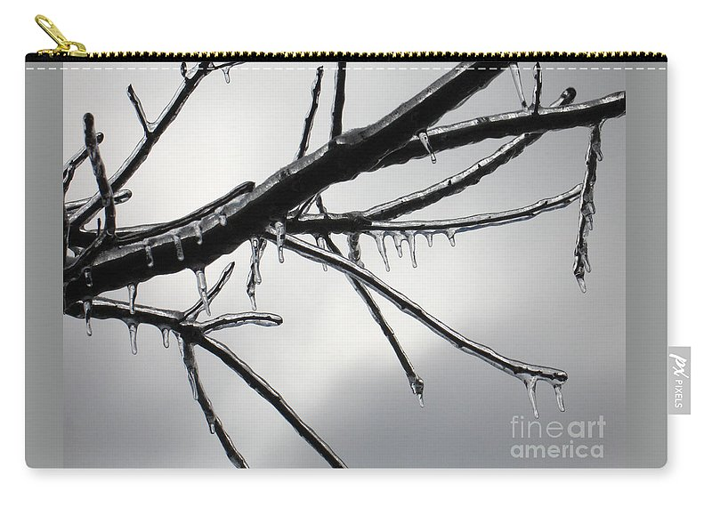 Winter Carry-all Pouch featuring the photograph Iced Tree by Ann Horn