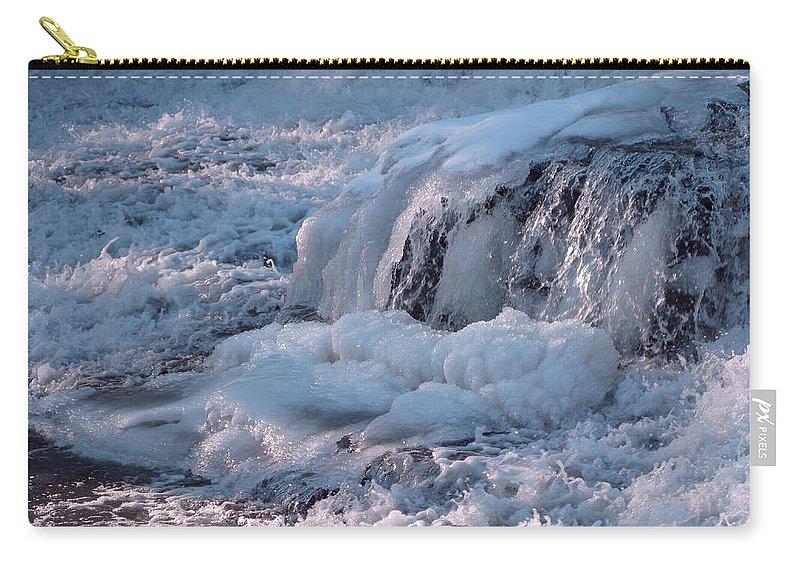 Winter Carry-all Pouch featuring the photograph Iced Water by Ann Horn