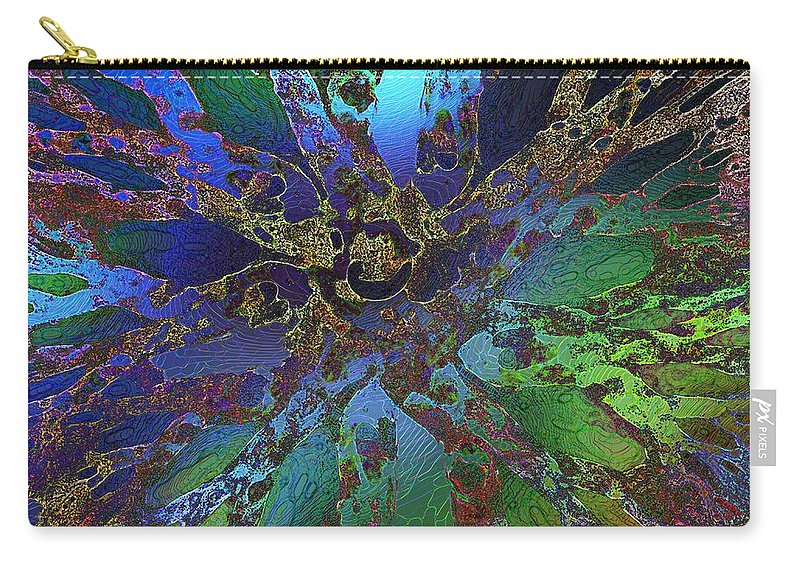 Icing Carry-all Pouch featuring the digital art Icing by Klara Acel