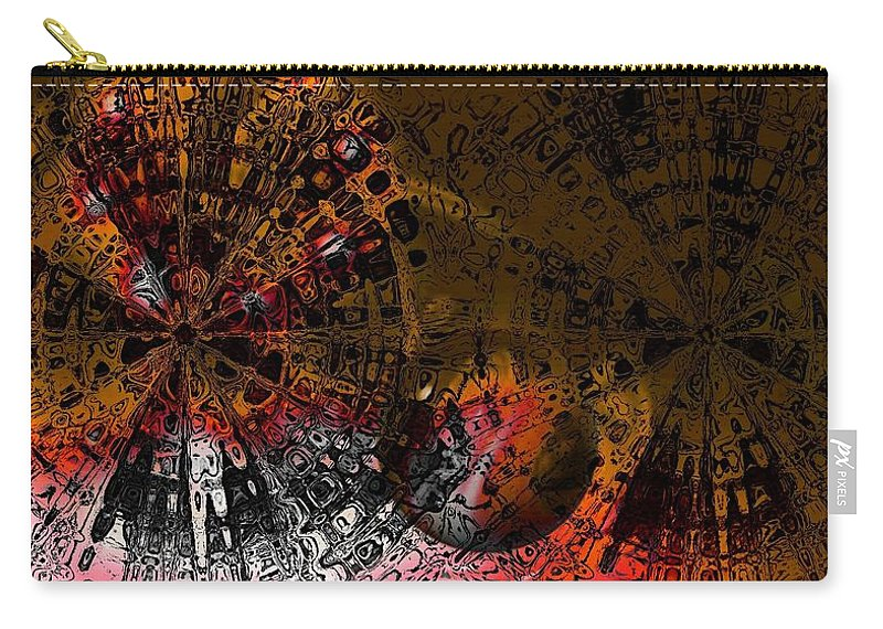 Digital Art Carry-all Pouch featuring the digital art Icons by Amanda Moore