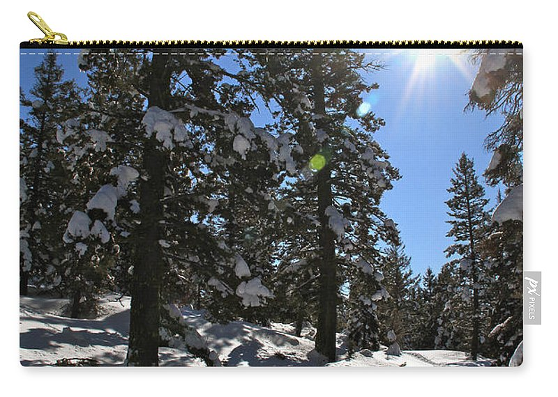 Idaho Carry-all Pouch featuring the photograph Idaho Blue Bird Day by Ed Riche