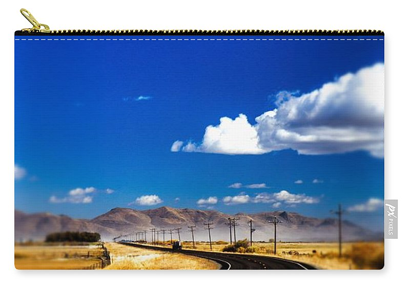 Tilt Shift Carry-all Pouch featuring the photograph Idaho Road Titl Shift by For Ninety One Days