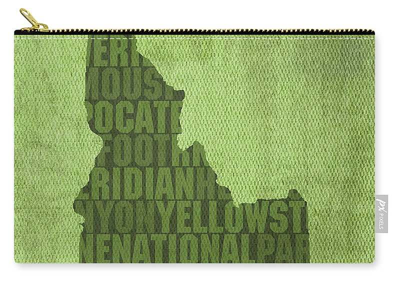 Idaho State Word Art Map On Canvas Carry-all Pouch on mississippi map usa, wisconsin map usa, iowa map usa, oklahoma map usa, connecticut map usa, colorado map usa, new york on map of usa, tulsa map usa, oregon map usa, idaho downtown map usa, yale map usa, california map usa, houston map usa, virginia map usa, unlv map usa, cal poly map usa, ohio map usa, florida map usa, michigan map usa, minnesota map usa,