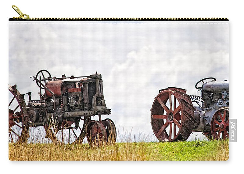 Tractors Carry-all Pouch featuring the photograph Idle Fordson Tractor On The Hill by Timothy Flanigan