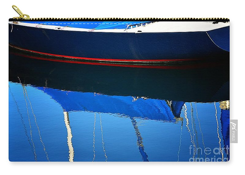 Abstract Carry-all Pouch featuring the photograph Idle Waters by Lauren Leigh Hunter Fine Art Photography