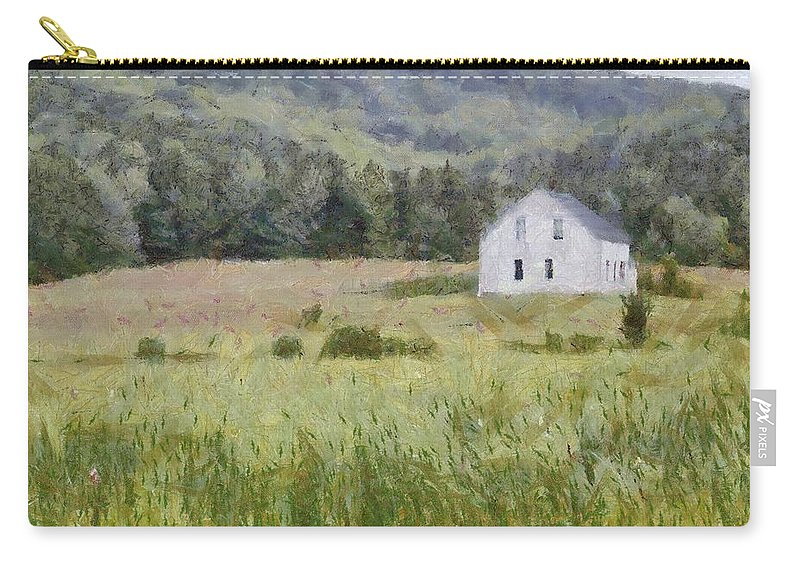 Alone Carry-all Pouch featuring the painting Idyllic Isolation by Jeffrey Kolker