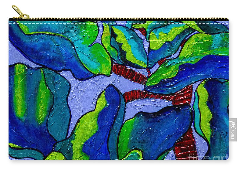 Plant Paintings Carry-all Pouch featuring the painting If Dragons Were Plants by Marta Tollerup