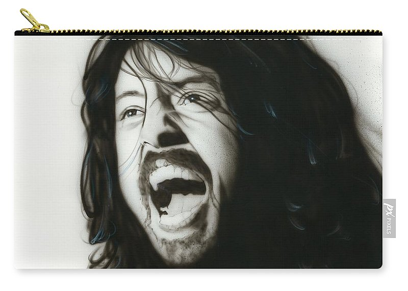 Dave Grohl Carry-all Pouch featuring the painting If Everything Could Ever Feel This Real Forever by Christian Chapman Art