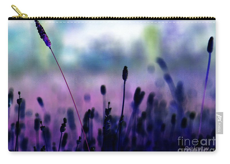 Purple Carry-all Pouch featuring the photograph If I Had A Purple Crayon ... by Chris Armytage
