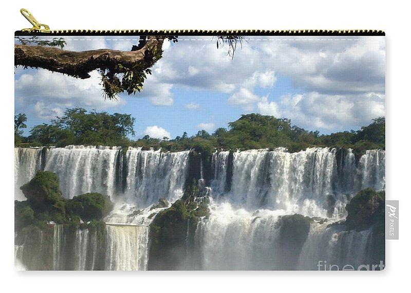 Landscapes Carry-all Pouch featuring the painting Iguazu Falls by Helena Wierzbicki