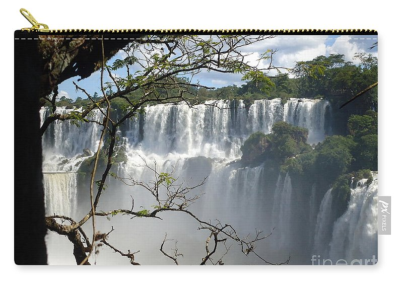 Falls Carry-all Pouch featuring the painting Iguazu Falls II by Helena Wierzbicki