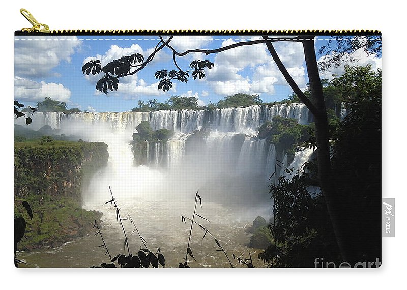 Falls Carry-all Pouch featuring the painting One Of The New Seven Wonders Of Nature by Helena Wierzbicki