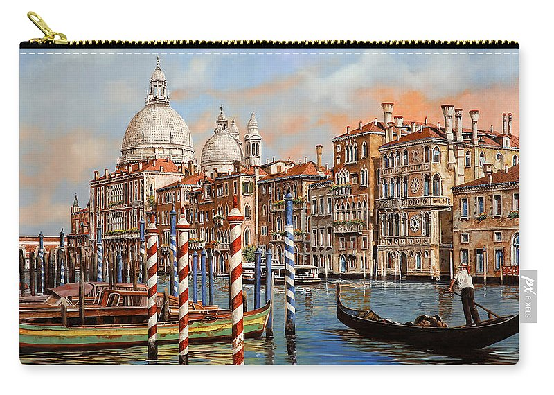 Venice Carry-all Pouch featuring the painting Il Canal Grande by Guido Borelli