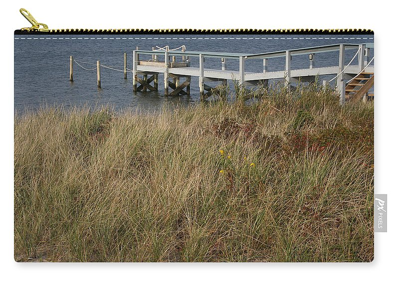 Lagoon Westhampton Carry-all Pouch featuring the photograph Il Molo by Tila Gun