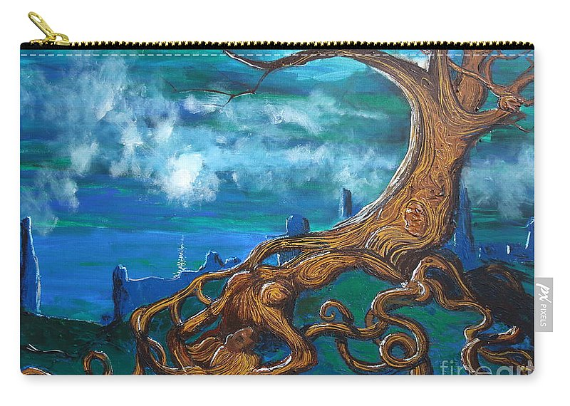 Fantasy Carry-all Pouch featuring the painting I'll Take You To The Light by Stefan Duncan