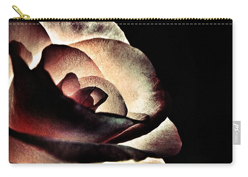 Illuminated Carry-all Pouch featuring the photograph Illuminated Rose by Marianna Mills