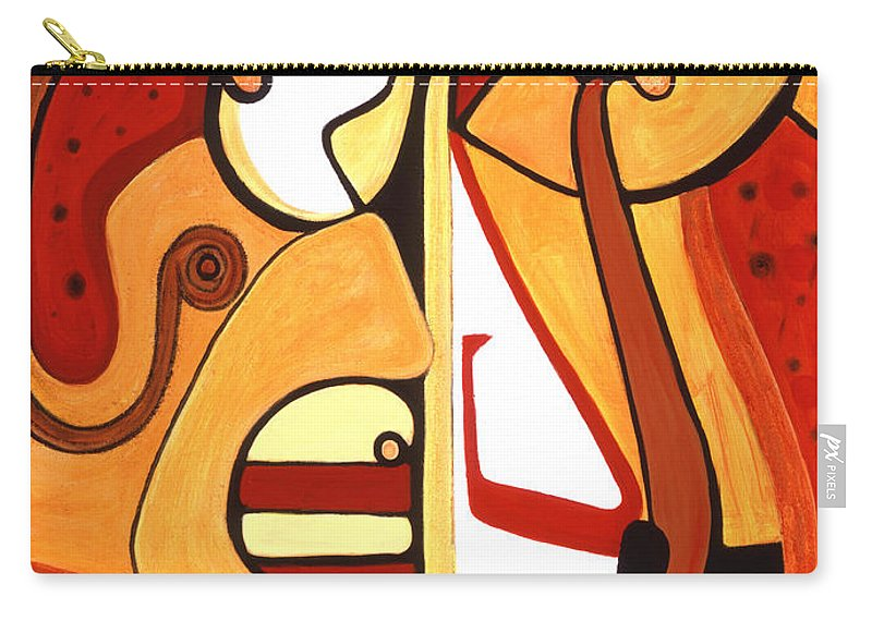 Abstract Art Carry-all Pouch featuring the painting Illuminatus 2 by Stephen Lucas